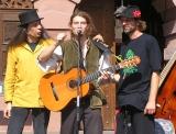 Frowin und Freunde am Straßenmusikfestival in Würzburg