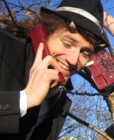 Satyr am roten Telefon