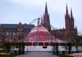 Zelt für das European Youth Circus Festival in Wiesbaden